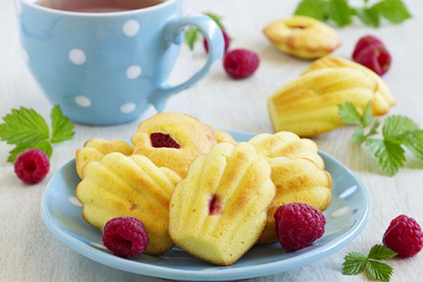 madeleines aux fruits rouges