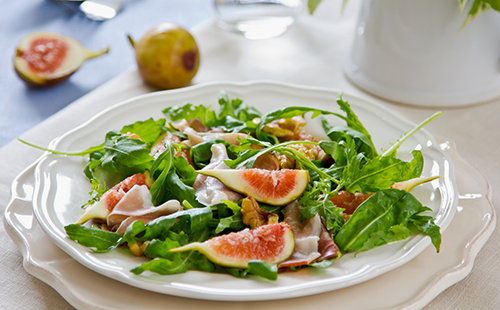Salade figues et coppa