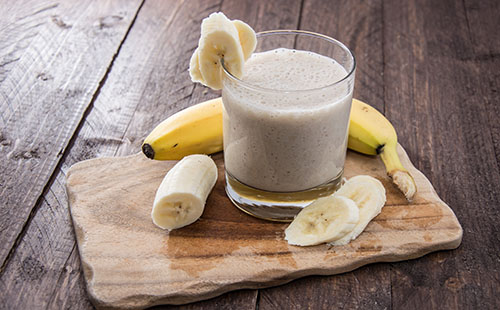 Smoothie de banane et flocons d'avoine