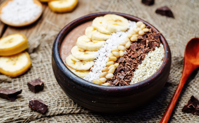 Smoothie bowl au chocolat