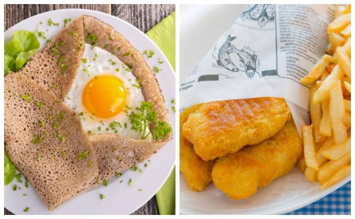 Galette bretonne poulet/curry et fish and chips