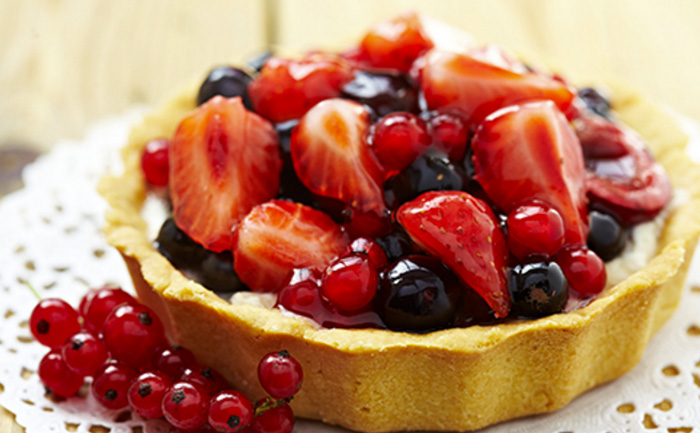 Tarte aux fruits rouges et mascarpone